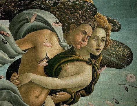 Nascita di Venere (particolare) di Zefiro