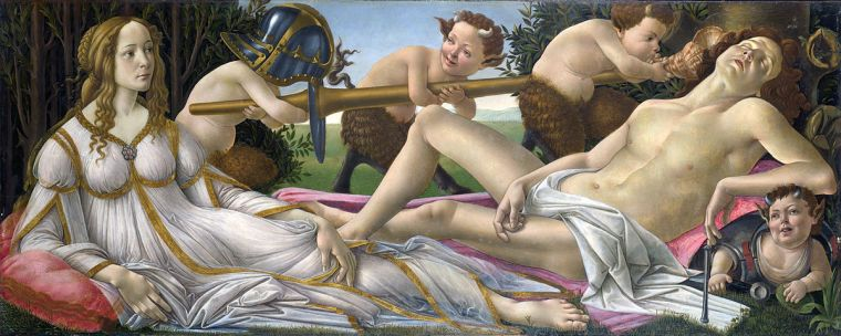 Venere e Marte / Venus and Mars (1482-83, Londra, National Gallery)