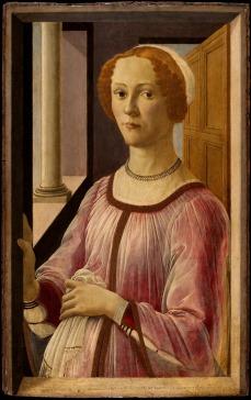Ritratto di Esmeralda Brandini / Portrait of Smeralda Brandini (1475 ca., Londra, Victoria and Albert Museum)