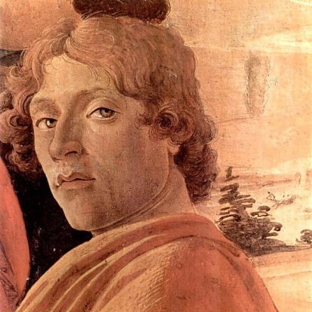 Sandro Botticelli, Autoritratto (dettaglio dell'Adorazione dei Magi)