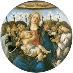 Madonna con Bambino e otto angeli (1477, Berlino, Gemaldegalerie)