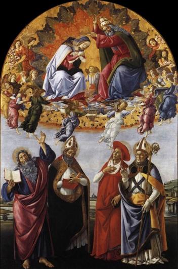 Incoronazione della Vergine (1488-90, Firenze, Uffizi)