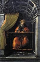 Sant'Agostino nello studio (1490-95, Firenze, Uffizi)