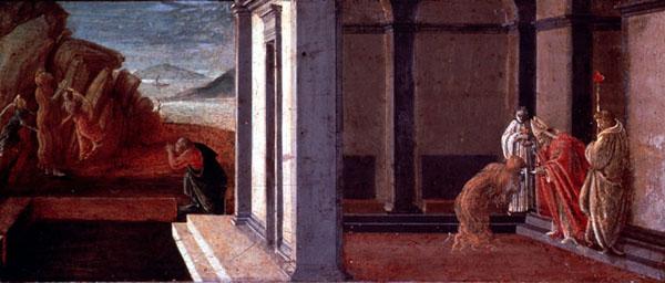 Comunione e assunzione della Maddalena (1491-93, Philadelphia Museum of Art)