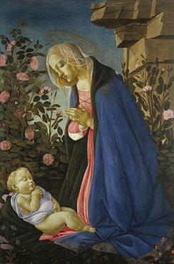 Vergine adorante il Bambino (1482 ca., Edimburgo, National Gallery of Scotland)