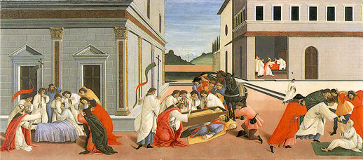 Tre miracoli di San Zanobi (1500-1505, Londra, National Gallery)