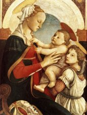 Madonna con Bambino e un angelo / Madonna with Child and an Angel (1465-67, Galleria dello Spedale degli Innocenti, Firenze)