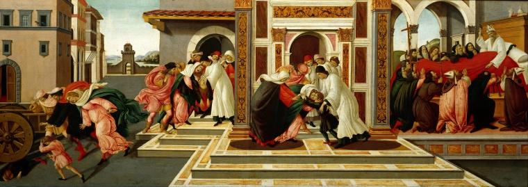 Ultimo miracolo e morte di San Zanobi / Last Miracle and Death of St. Zenobius (1500-1505,Dresda, Gemäldegalerie)