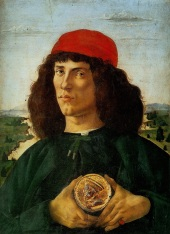 Ritratto di giovane con medaglia di Cosimo il Vecchio (1474-75, Firenze, Uffizi)