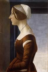 Ritratto di giovane donna / Portrait of a Young Woman (1475 ca., Firenze, Galleria Palatina. Palazzo Pitti)