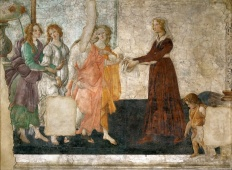 Venere e le Tre Grazie offrono doni a una giovane / Venus and the Three Graces Offering Gifts to a Young Woman (1483-86, Parigi, Louvre)