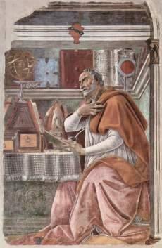 Sant'Agostino nello studio / Saint Augustine in His Study (1480, Firenze, chiesa di Ognissanti)