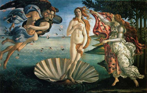 Nascita di Venere / Birth of Venus (1482-85 ca., Firenze, Uffizi)