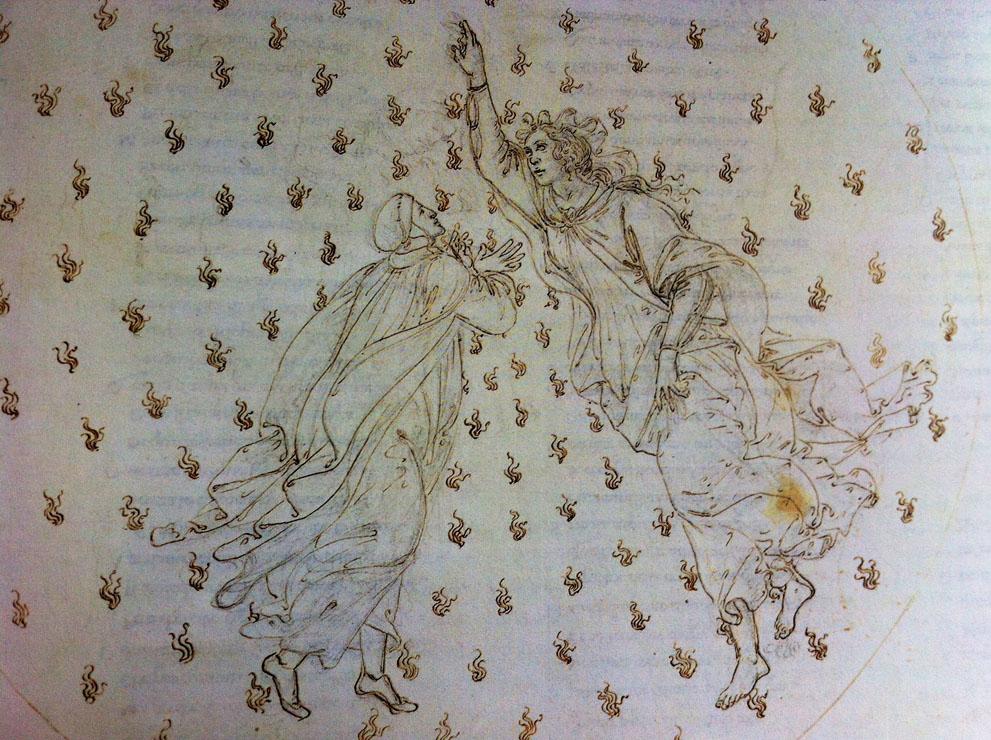 Sandro Botticelli, Illustrazione per la Divina Commedia, Paradiso Canto VI